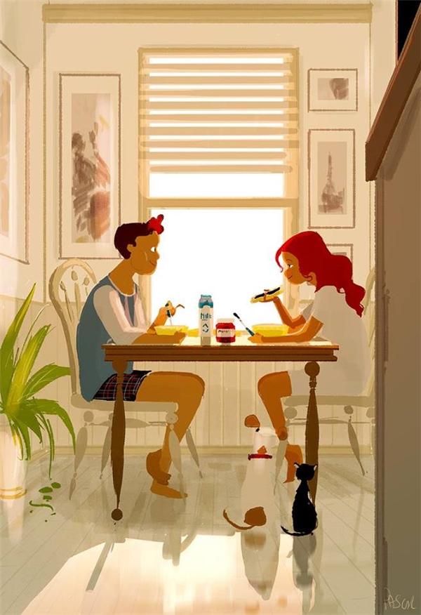 Khi yêu,chỉ cần ăn chung một bàn thì món gì cũng cảm thấy ngon miệng nhất thế gian.