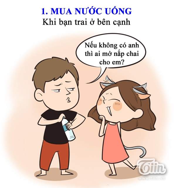 Chết cười hành động của bạn gái khi không có người yêu bên cạnh