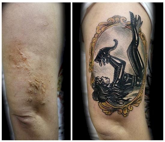 Nếu không đặt cạnh nhau, liệu bạn có nhận ra hai bức hình được chụp trên cùng một cánh tay?