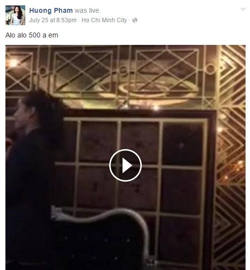 Cùng lúc đó Phạm Hương đi hát karaoke với một nhóm bạn khác. - Tin sao Viet - Tin tuc sao Viet - Scandal sao Viet - Tin tuc cua Sao - Tin cua Sao
