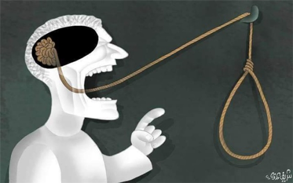 Cái miệng chỉ làm hại cái thân khi bộ não không được dùng đến.