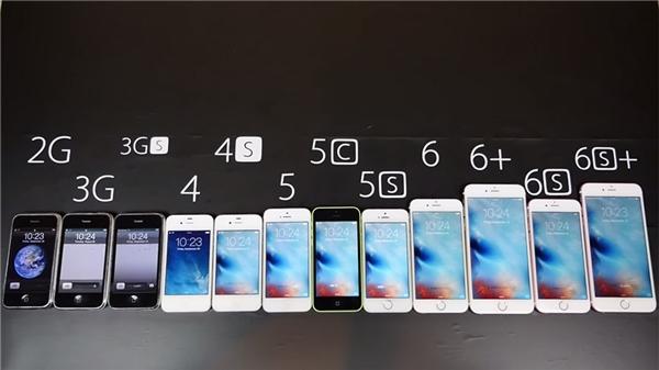 Tất cả các dòng iPhone hiện nay. (Ảnh: internet)