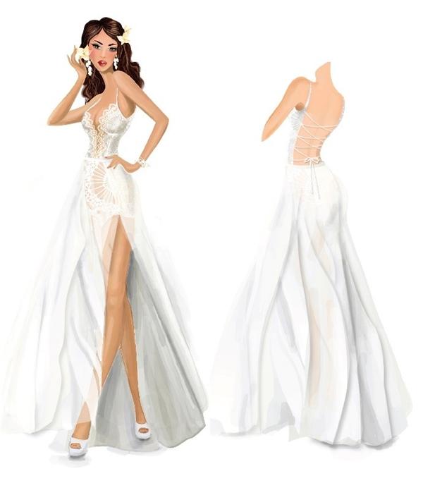 Sau ba tháng để lên mẫu, quarất nhiều phác thảo khác nhau, Hà Anh đãchọn phác thảo này bởi với nữ siêu mẫu,chiếc váy cưới này tôn được vóc dáng nóng bỏng, đồng thời cũng có nét kiêu sa tinh tế phù hợp với tính trọng đại của buổi lễ - Tin sao Viet - Tin tuc sao Viet - Scandal sao Viet - Tin tuc cua Sao - Tin cua Sao
