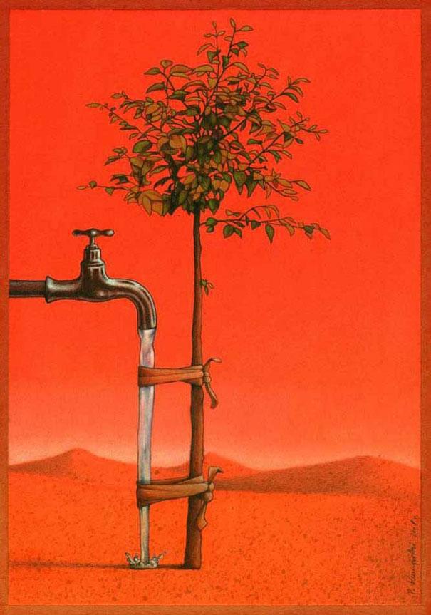 Bảo vệ cây xanh và bảo vệ nguồn nước cũng chính là bảo vệ Trái Đất.