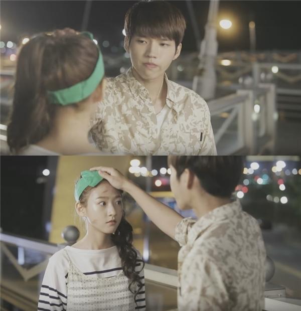 Woo Hyun và Kim Sae Ron trong phim High School Love On.