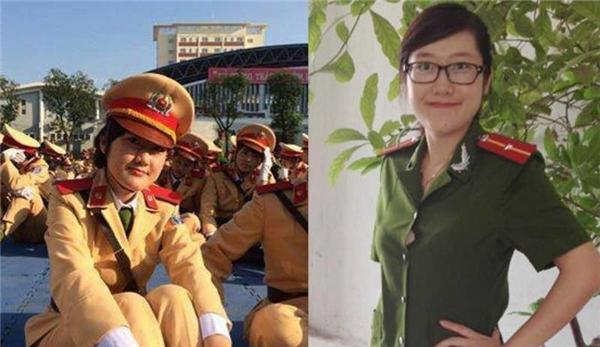 Nữ Thiếu úy trẻ Đậu Thị Huyền Trâm ngày còn khoác lên mình chiếc áo công an.