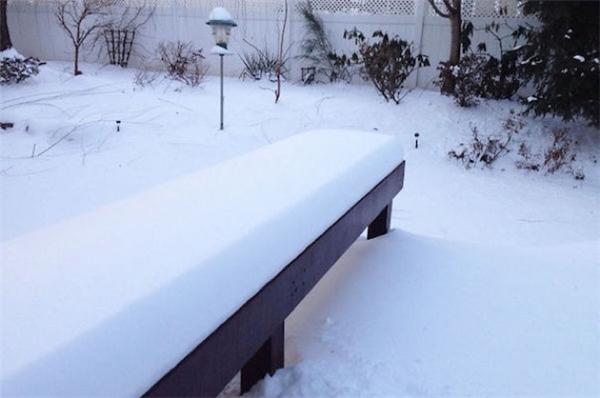 Chiếc ghế gỗ này đã được đệm một lớp tuyết vừa trắngmịn, vừa gọn gàng vuông vắn, nhưng ai mà nỡ ngồi lên cơ chứ.