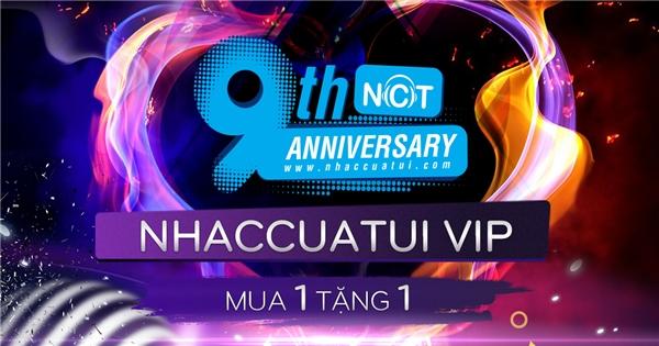 """Quà tặng NhacCuaTui VIP: """"Nâng cấp NhacCuaTui VIP, mua 1 tháng tặng 1 tháng"""".Áp dụng cho tất cả các user NhacCuaTui nâng cấp NhacCuaTui VIP 1 tháng thành công trong thời gian từ 25/07 – 07/08/2016."""