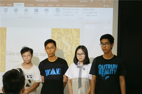 Giải Nhì thuộc về đội Gatsbie (gồm Võ Quỳnh Chi, Hoàng Tùng, Đoàn Việt Dũng,Đồng Phạm Hải Minh) với ý tưởng mở shop bán bánh online.