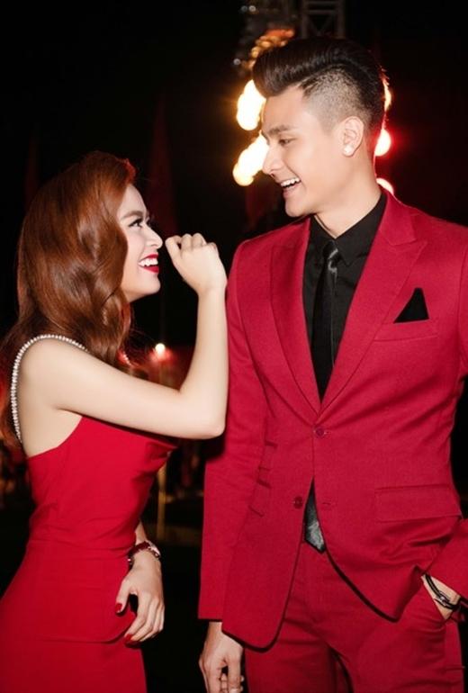 """Sau nghi án """"phim giả tình thật với Harry Lu, nữ ca sĩ lại tiếp tục vướng phải tin đồn hẹn hò với siêu mẫu Vĩnh Thuỵ. (Ảnh: Internet)"""