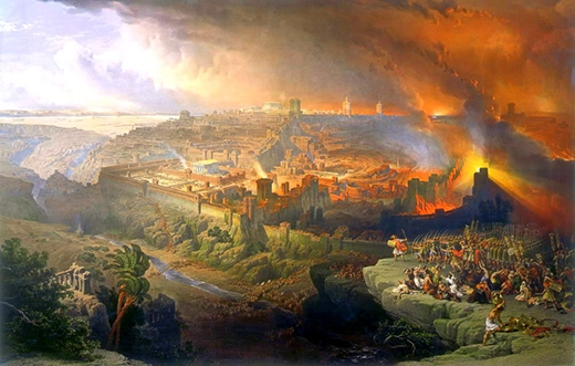 Trận chiến ở Jerusalem khi người La Mã tấn công và đàn áp người Do Thái tại thành phố này