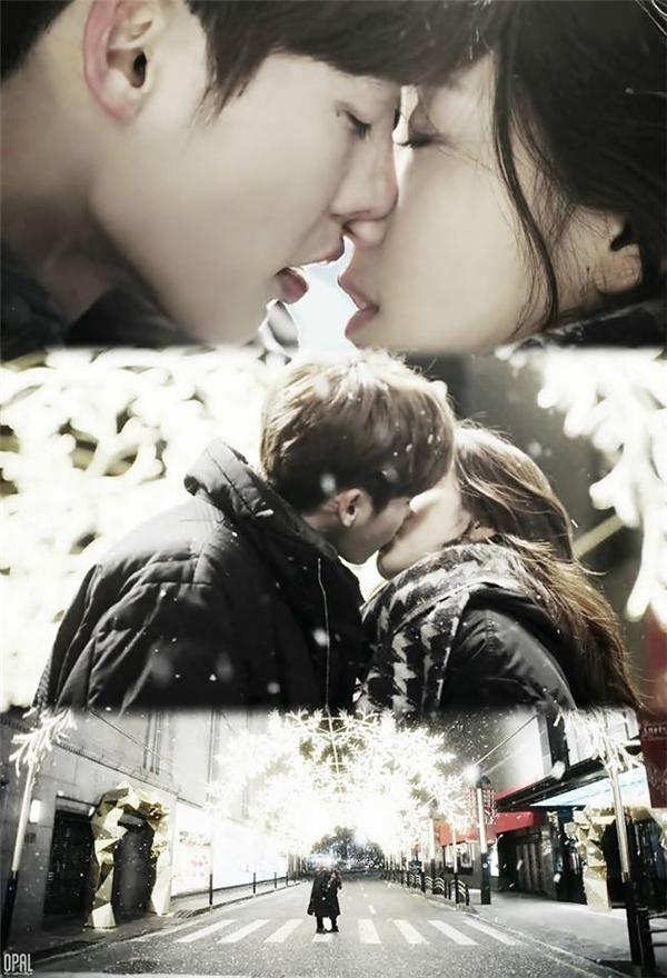 Nụ hôn xác nhận tình cảm Dal Po dành cho In Ha.(Ảnh: Internet)