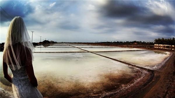 Ruộng muối ở Campuchia.
