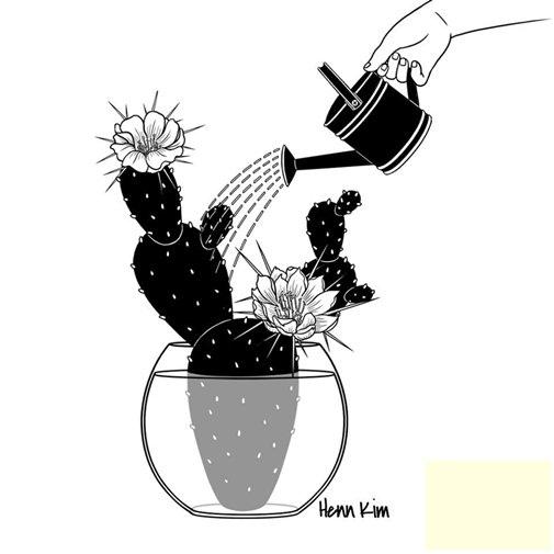 Tình yêu cũng như cây xương rồng, nếu chịu chăm sóc thì một ngày nọ nó sẽ ho bạn những bông hoa tuyệt vời.