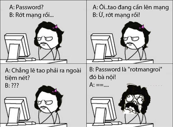 Đúng là cái mật khẩukhông ai nghĩ tới.(Ảnh: Internet)