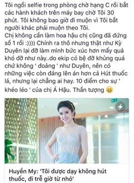 """Tài khoản này còn trích dẫn bài báo với nội dung """"Huyền My: """"Tôi được dạy không hút thuốc, đi trễ giờ từ nhỏ"""". - Tin sao Viet - Tin tuc sao Viet - Scandal sao Viet - Tin tuc cua Sao - Tin cua Sao"""