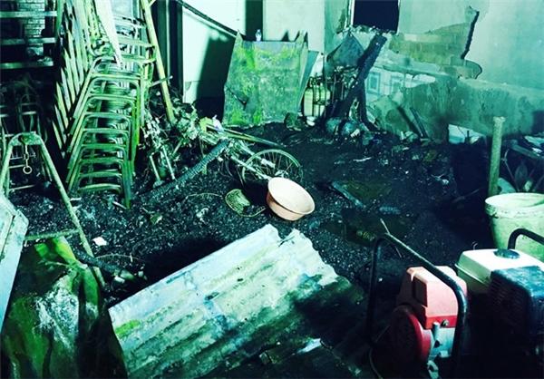Hiện trường vụ cháy khiến 6 người tử vong.