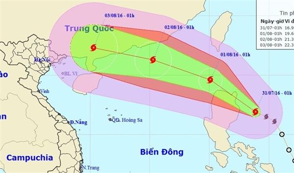 Nóng: Siêu bão Nida đang tiến vào biển Đông