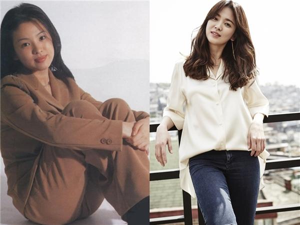 Có vẻ thời mà Song Hye Kyomớibước vào nghề, phụ nữ đầy đặn mới được xemlà đẹp. Tuy vậy, vóc dáng thon thả dường như hợp vớiSong Hye Kyo hơn.(Ảnh: Internet)