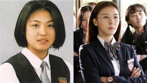 """Ngay cả """"nữ hoàng""""Ha Ji Won cũng từng khá mập khi còn là học sinh. Tuy nhiên, khi chính thức được debut, Ha Ji Won đã vô cùng thon thả và xinh đẹp.(Ảnh: Internet)"""