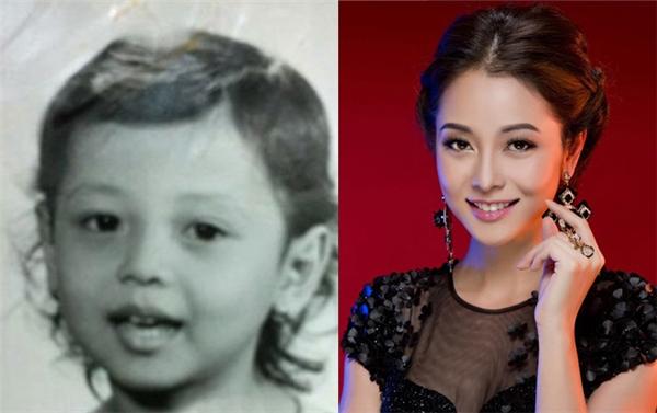Đôi mắt to tròn cùng vớiđôi môi trái tim,khuôn mặt bầu bĩnh thu hút người đối diện của hoa hậu Châu Á tại Mỹ 2006 Jennifer Phạm không hề thay đổi từ khi bé. Những đường nétdường như chỉ trở nên thanh thoát và sắc sảo hơn nhờsự trưởng thành qua năm tháng.