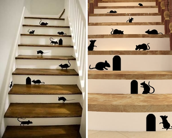 Nhà mà nhiều chuột thế này thì sợ đến chết mất thôi, vì chuột rấtthích làm tổ trong những ngóc ngách nhỏ nên xây nhà cho chúng ngay trong chân cầu thang là quáchuẩn rồi.
