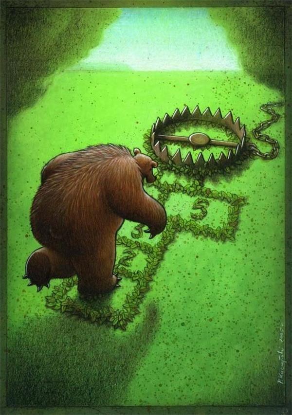 Thậm chí rừng xanh cũng trở nên quá nguy hiểm đối với gấu.