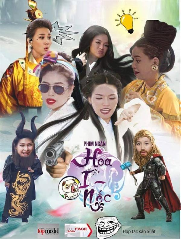 Một bức ảnh phối hợp giữa các thành viên của The Face và Vietnam's Next Top Model 2016.