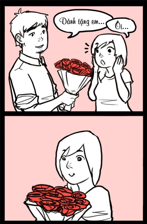 Tặng hoa này...