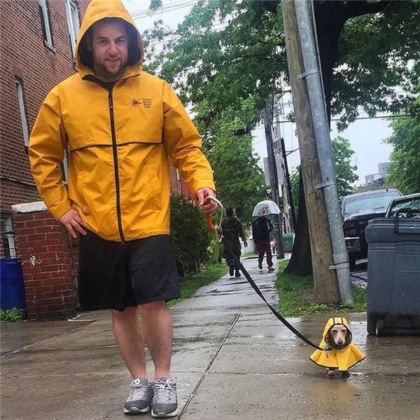 Tưởng cho mặc cái áo dễ thương là bắt người ta đi dưới mưa như vậy à?