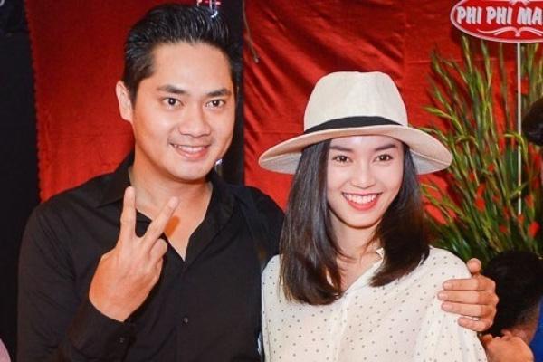 Lan Ngọc và Minh Luân trong lễ Giỗ Tổ ngành sân khấu năm 2015.