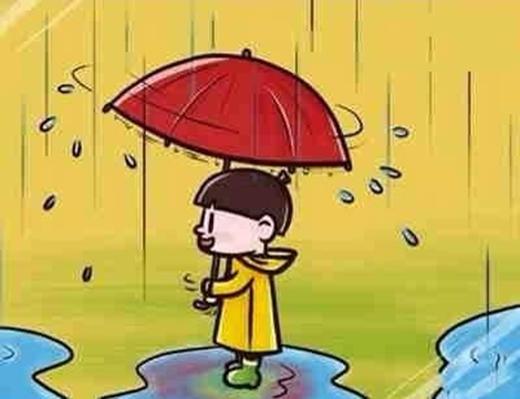 Ai nói con nít ghét mưa? Cầm dù xoay xoay dưới mưa cho nước văng tung tóe là nghề của các nàngđó nha.