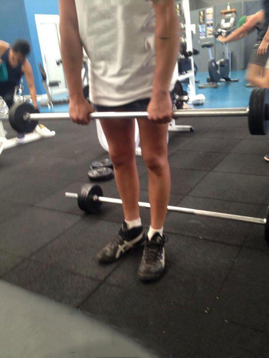 Trong lịch tập luyện không có giờ nào tập chân cả.