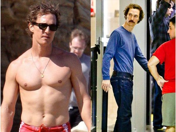 Matthew cũng không hề kém cạnh Jared trong công cuôc giảm cân vì vai diễn của mình.