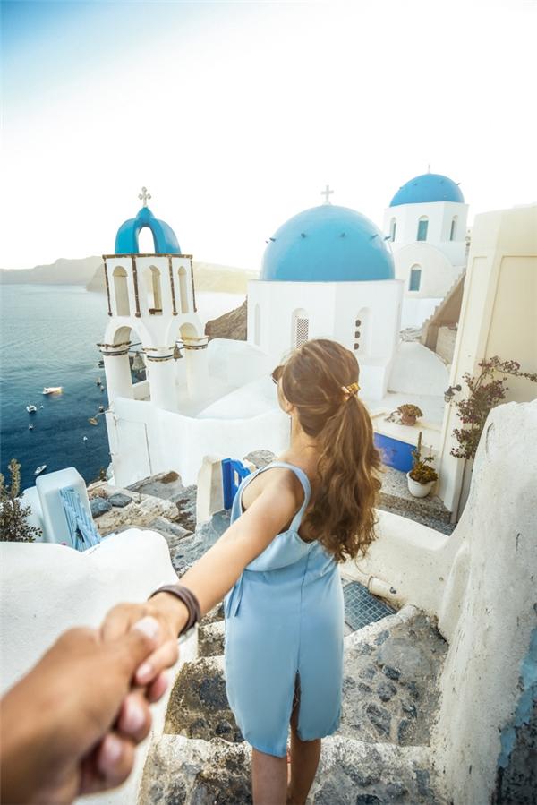 Oia - Hy Lạp với những ngôi nhà màu trắng trong truyền thuyết.(Ảnh: MrLee)