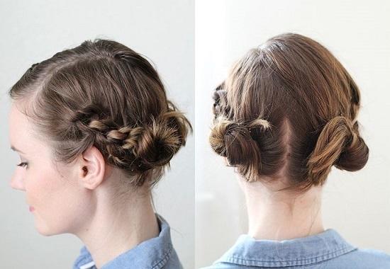 """Kết hợp giữa """"búi và bím"""" không chỉ khiến bạn thêmtrẻ trung mà còn có tác dụng""""hạ nhiệt"""" mùa hè đáng kể. Nếu không thích búi, bạn cũng có thể xõa đuôi tóc xuống để trông tự nhiên hơn."""