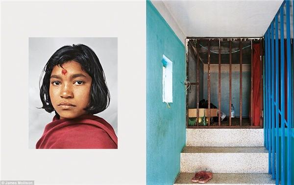 Prena, 14 tuổi, Kathmadu, Nepal: Prena giúp việc vàsống trên tầng gác mái của chủ nhà.Chỗ ngủ của Prena chỉ gói gọn trong khoảng không gian chật hẹp và trông gần như một cãi cũi. Mỗi tháng, cô được trả hơn 3 đô la. Với số tiền ít ỏi đó, cô bé gửi về cho cha mẹ để nuôi8 người em ở nhà. Niềm vui duy nhất của Prena là trường học, nơi cô được đến học3 lần 1 tuần. Ước mơ của Prena là trở thành một bác sĩ trong tương lai.