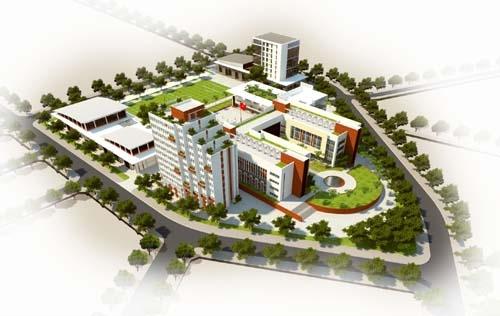 Phối cảnh tổng thể Trường THPT Chuyên Bắc Ninh. (Ảnh: Internet)
