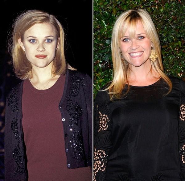 Reese Witherspoon có thể đổ lỗi cho công nghệ trang điểm quê mùa với những tấm ảnh ngày xưa của mình.