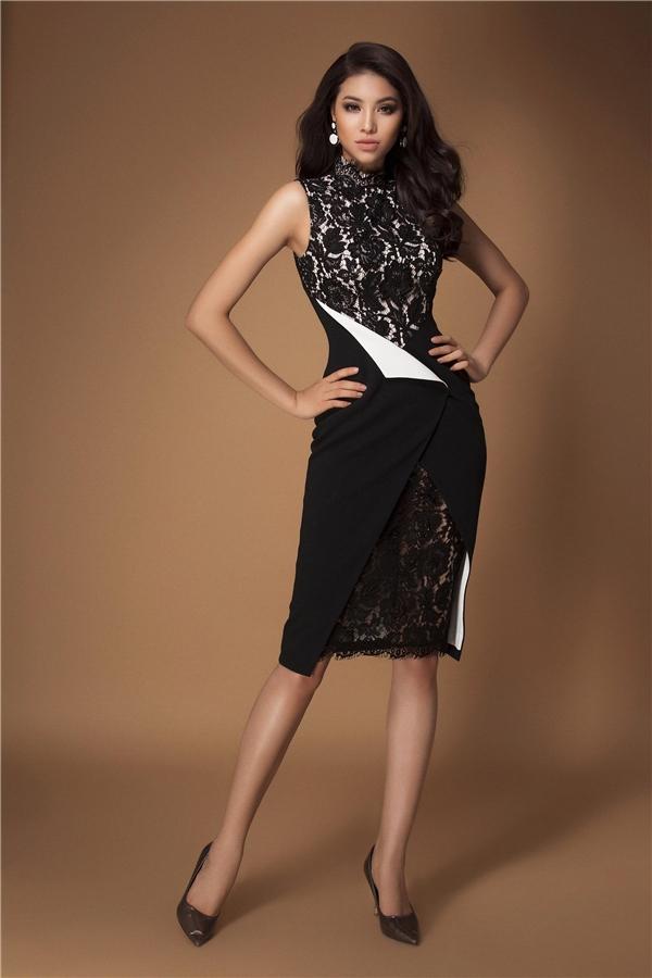Có thể nói, hoa hậu Phạm Hương là một trong những người đã tạo cho NTK Lê Thanh Hòa một cảm hứng đặc biệt để sáng tạo ra những bộ trang phục đẹp mắt nhất.