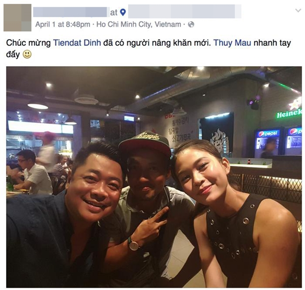 Hình ảnh cặp đôi từng được ông xã nữ ca sĩ Kiwi Ngô Mai Trang tiết lộ trên mạng xã hội đúng vào ngày Cá tháng tư. - Tin sao Viet - Tin tuc sao Viet - Scandal sao Viet - Tin tuc cua Sao - Tin cua Sao