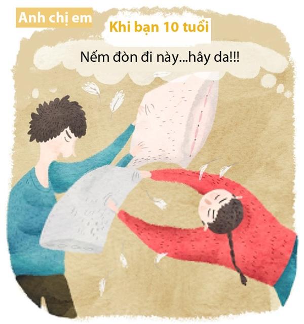 Lúc nhỏ, chuyện đánh đấm hờn giận với anh chị em trong nhà là chuyện cơm bữa, là chuyện quá bình thường. Ngày nào mà không có đứa khóc mới là chuyện lạ.