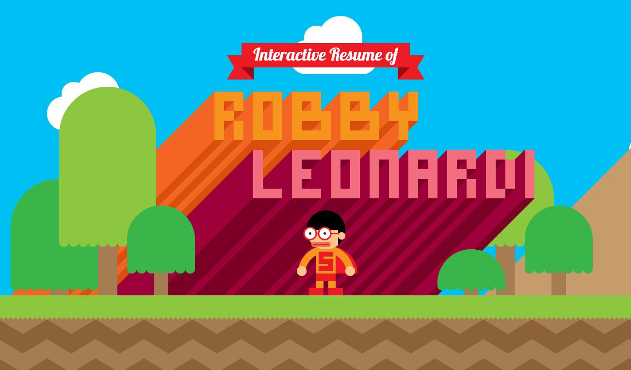 Mở đầuCV củaRobby Leonardi. (Ảnh chụp màn hình)