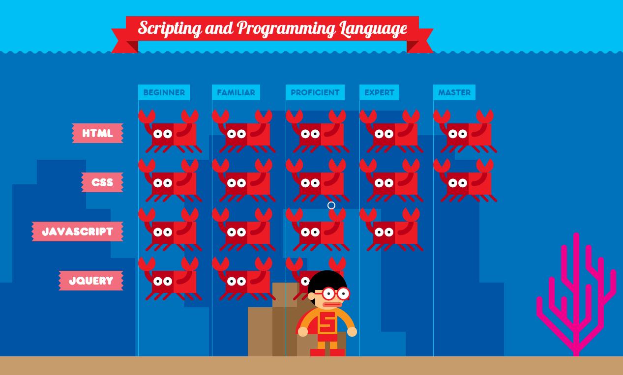 Liệt kê những ngôn ngữ lập trình thành thạo.(Ảnh chụp màn hình)