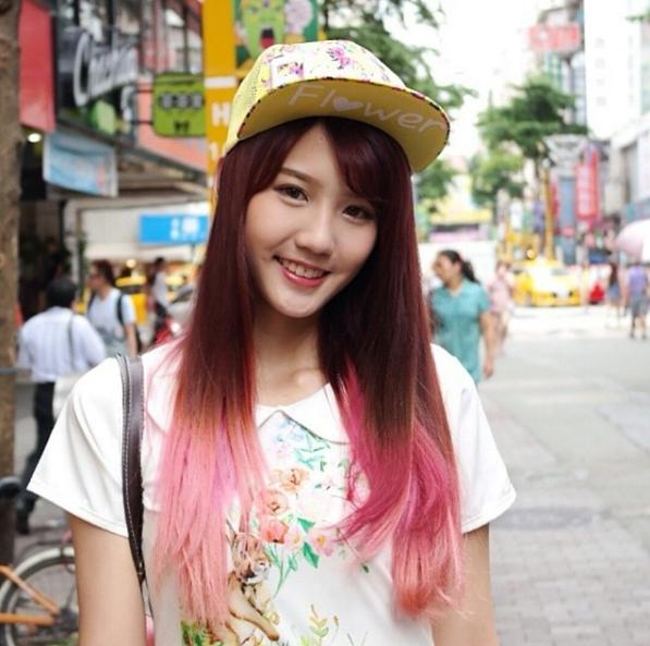 Tóc ombre hồng cá tính của Joyce Chu.
