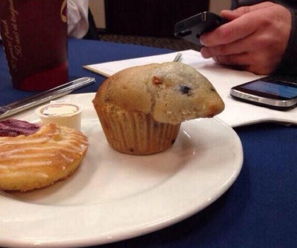 Nhìn thấy con chuột này là hết muốn ăn bánh luôn rồi.