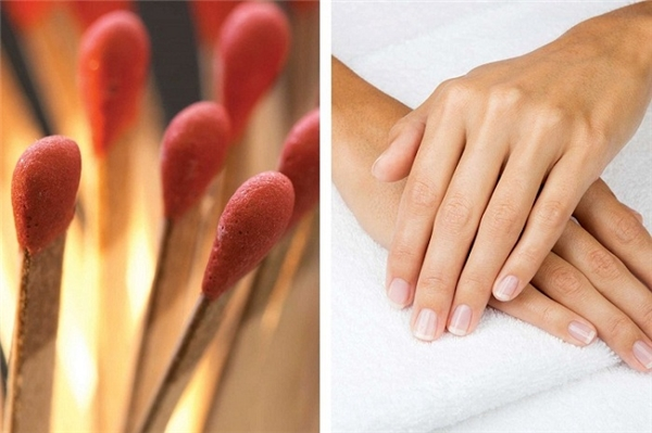 Khi móng tay bị mẻ mà không có đồ dũa móng tay, bạn có thể cà móng lên vỏ hộp diêm.