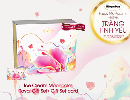 Bộ hộp/ thẻ quà tặng bánh trung thu kem lạnh Royal.