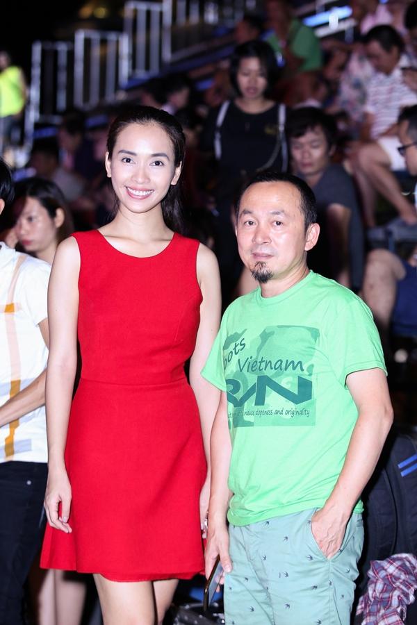 Phan Lê Ái Phương và nhạc sĩ Quốc Trung.