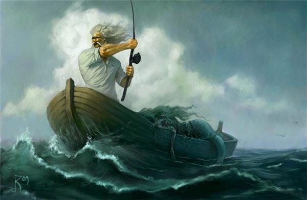 Ông già chỉ bắt được một nàng tiên cá đã chết ngoài biển cả. Chuyện cổ tích chúng không có thực, cuộc sống thực tại khắc nghiệt hơn nhiều.